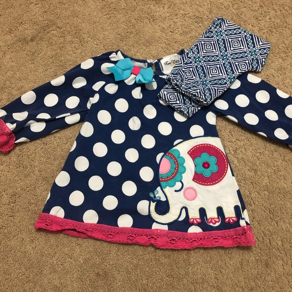 Rare Editions Other - Toddler girls elephant pants set